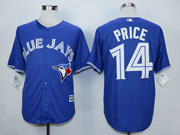 Mens Mlb Toronto Blue Jays #14 Price Blue (2012 Majestic) Jersey