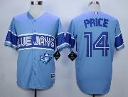 Mens Mlb Toronto Blue Jays #14 Price Light Blue 2015 Cool Base Vintage Jersey