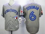 Mens Mlb Toronto Blue Jays #6 Stroman Gray Jersey