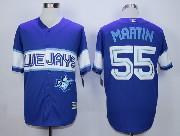 Mens Mlb Toronto Blue Jays #55 Martin Dark Blue 2015 Cool Base Vintage Jersey