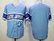 Mens Mlb Toronto Blue Jays (blank) Light Blue 2015 Cool Base Vintage Jersey