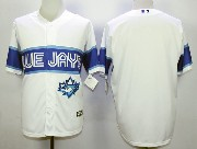 Mens Mlb Toronto Blue Jays (blank) White 2015 Cool Base Vintage Jersey
