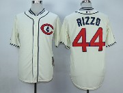 Mens Mlb Chicago Cubs #44 Rizzo Cream White 1929 New Throwbacks Jersey