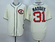 Mens Mlb Chicago Cubs #31 Maddux Cream White 1929 New Throwbacks Jersey
