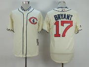 Mens Mlb Chicago Cubs #17 Bryant Cream White 1929 New Throwbacks Jersey