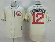 Mens Mlb Chicago Cubs #12 Schwarber Cream White 1929 New Throwbacks Jersey