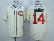 Mens Mlb Chicago Cubs #14 Banks Cream White 1929 New Throwbacks Jersey
