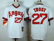 Mens Mlb Los Angeles Angels #27 Mike Trout White 1980 Throwbacks Jersey