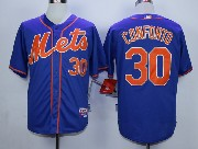 Mens Mlb New York Mets #30 Conforto Blue (orange Number) Jersey Sn