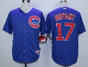 Mens Mlb Chicago Cubs #17 Bryant Blue Cool Base Jersey