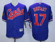 Mens Mlb Chicago Cubs #17 Bryant 1994 Turn Back The Clock Blue Jersey