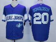 Mens Mlb Toronto Blue Jays #20 Donaldson Dark Blue 2015 Cool Base Vintage Jersey