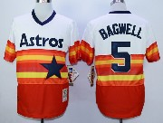 Mens Mlb Houston Astros #5 Bagwell White&orange Pullover Jersey