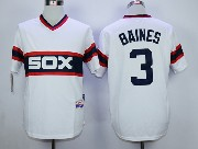 Mens Mlb Chicago White Sox #3 Baines White Pullover Jersey