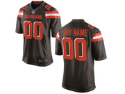 Mens Womens Youth Nfl Cleveland Browns (custom Made) Brown Game Jersey