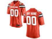 Mens Womens Youth Nfl Cleveland Browns (custom Made) Orange Game Jersey