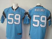 Mens Nfl Carolina Panthers #59 Kuechly Blue Elite Jersey