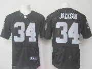 Mens Nfl Las Vegas Raiders #34 Bo Jackson Black (2015 New) Elite Jersey