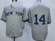 Mens Mlb New York Yankees #14 Granderson Gray Jersey(no Name)