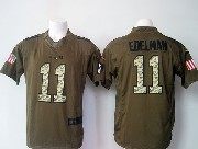 mens nfl New England Patriots #11 Julian Edelman green salute to service limited jersey