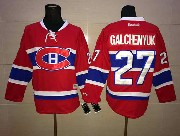 Mens Reebok Nhl Montreal Canadiens #27 Galchenyuk Red (ch) Lacing Jersey