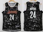 Mens Nba Los Angeles Lakers #24 Kobe Bryant Black Luminous Version Jersey
