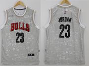 Mens Nba Chicago Bulls #23 Jordan Gray Sun Version Jersey