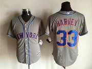 Mens Mlb New York Mets #33 Harvey Gray Jersey