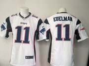 mens nfl New England Patriots #11 Julian Edelman (new) white game jersey