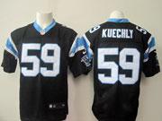 Mens Nfl Carolina Panthers #59 Kuechly Black Elite Jersey