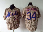 Mens Mlb New York Mets #34 Syndergaard Camo Jersey