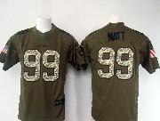 mens nfl Houston Texans #99 JJ Watt green salute to service limited jersey