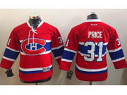youth reebok nhl Montreal Canadiens #31 Carey Price red (ch) lacing jersey