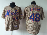Mens Mlb New York Mets #48 Degrom Camo Jersey