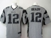 mens nfl New England Patriots #12 Tom Brady gray (black number) limited jersey