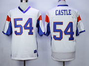 Mens Nfl Movie Mountain State #54 Castle White Jersey