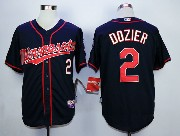 Mens Mlb Minnesota Twins #2 Dozier Dark Blue (minnesota) Jersey