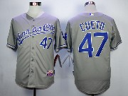 Mens Mlb Minnesota Twins #47 Cueto Gray Jersey