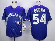 Mens mlb toronto blue jays #54 osuna blue 2012 new style Jersey