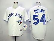 Mens mlb toronto blue jays #54 osuna white 2012 new style Jersey