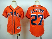 Mens Mlb Houston Astros #27 Altuve Orange 2015 New Jersey