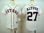 Mens Mlb Houston Astros #27 Altuve Full White Jersey