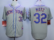 Mens Mlb New York Mets #32 Matz Gray Jersey