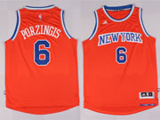 Mens Nba New York Knicks #6 Porzingis Orange Jersey (p)