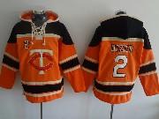 Mens Mlb Minnesota Twins #2 Dozier Orange Hoodie Jersey