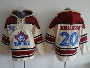 Mens Mlb Toronto Blue Jays #20 Donaldson Cream Hoodie Jersey