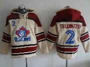 Mens Mlb Toronto Blue Jays #2 Tulowitzki Cream Hoodie Jersey