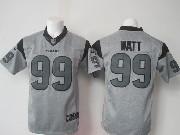mens nfl Houston Texans #99 JJ Watt gray (black number) limited jersey