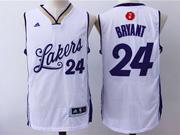 Mens Nba Los Angeles Lakers #24 Kobe Bryant White (2016 Christmas) Jersey
