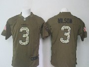 Mens Nfl Seattle Seahawks #3 Russell Wilson Green Salute To Service Limited Jersey